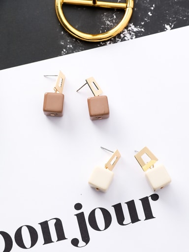 Alloy With Gold Plated Trendy Geometric Acrylic Stud Earrings