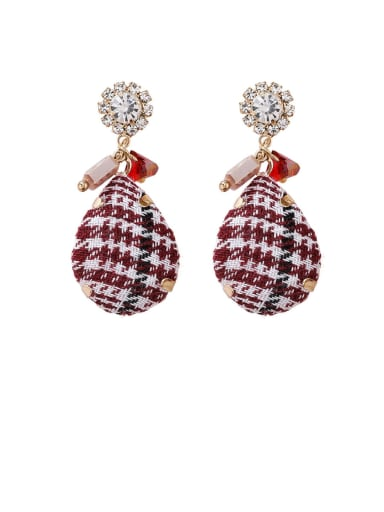Alloy With Rose Gold Plated Personality Water Drop Drop Earrings