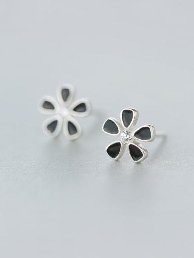 S925 Silver  Sweet Flower Stud cuff earring