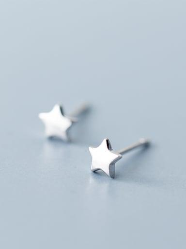 Elegant Star Shaped S925 Silver Stud Earrings