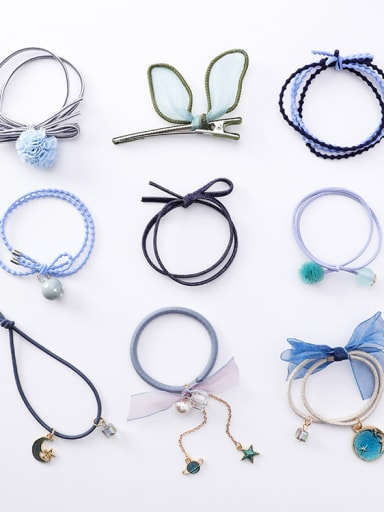 Lace Girl Sweet Hair Cords 9 Sets Hair Ropes