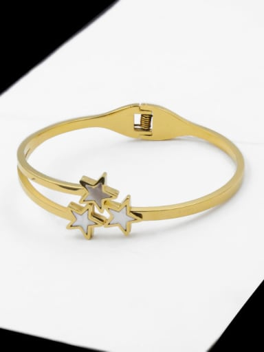 Super Fashion Plating Cross Opening Men's Titanium Bracelet