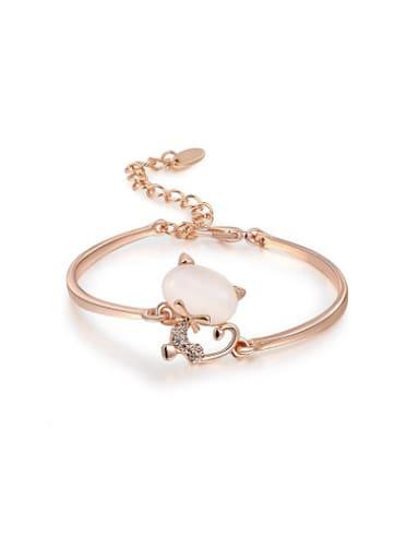 Lovely Adjustable Cat Shaped Opal Bracelet