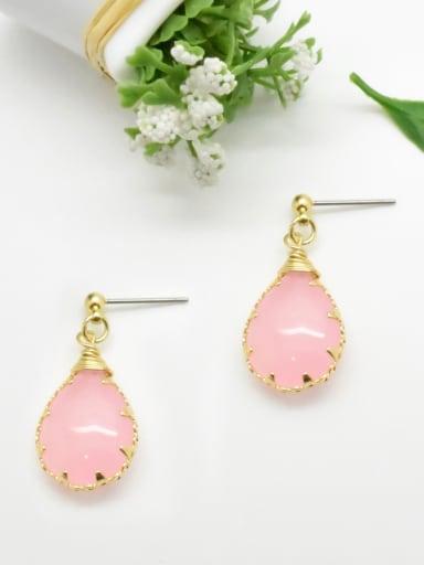 Women Water Drop Shaped Natural Stone Earrings