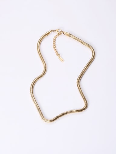 Titanium With Gold Plated Simplistic Snake Chain Necklaces