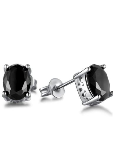 Hot Selling Black Stones Fashion Stud Earrings