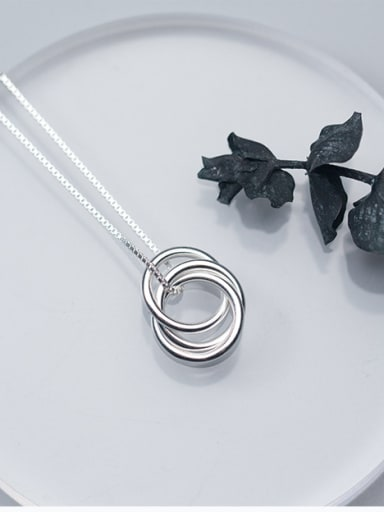 Sterling Silver personality tricyclic Pendant Necklace
