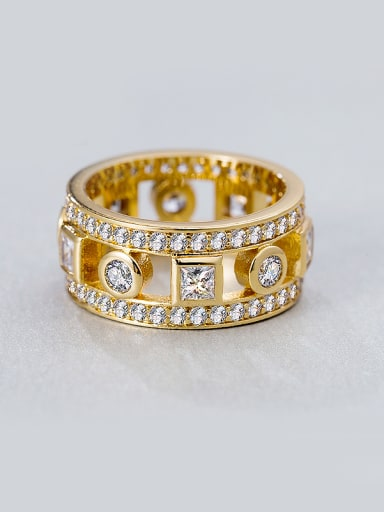 Gold Plated Zircon band ring