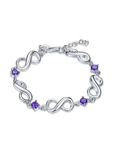 Fashion Purple Zircon Eight-shaped Bracelet