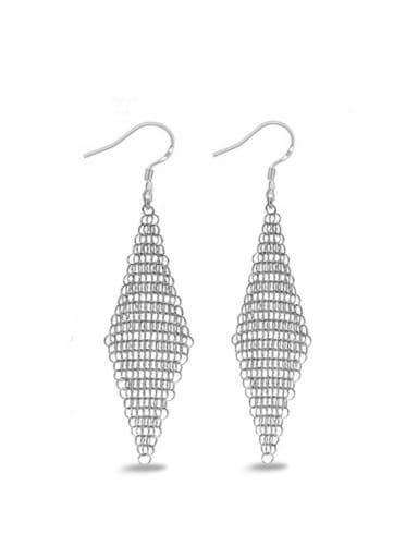 Diamond Shaped Hollow Design Drop Earrings