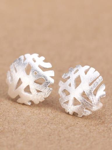 Hollow Snowflake stud Earring