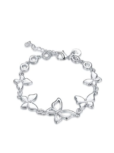 Simple Butterflies Silver Plated Bracelet
