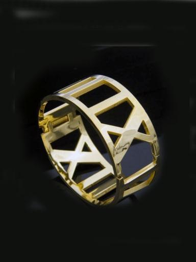 Hollow New Design Exaggerate Titanium Bangle