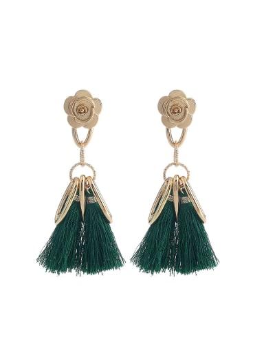 Elegant Rose Shaped Tassels Stud Earrings
