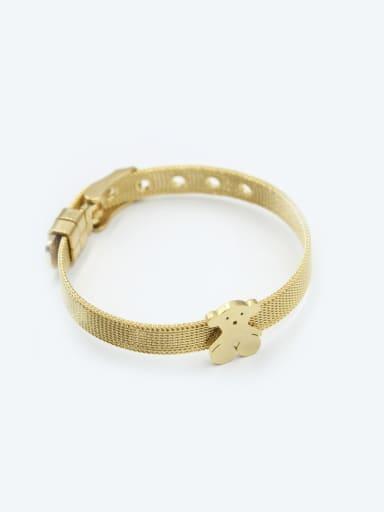 Belt Shape Gold Plated Women Bracelet