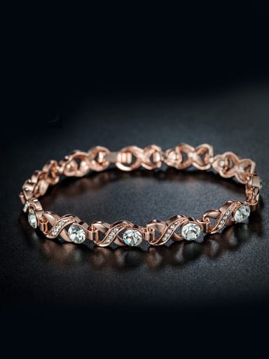 Rose Gold Plated Zircon Bracelet