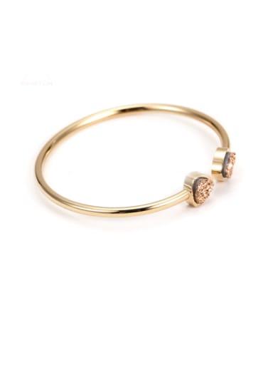 Titanium Rose Gold Crystal Cluster Bracelet