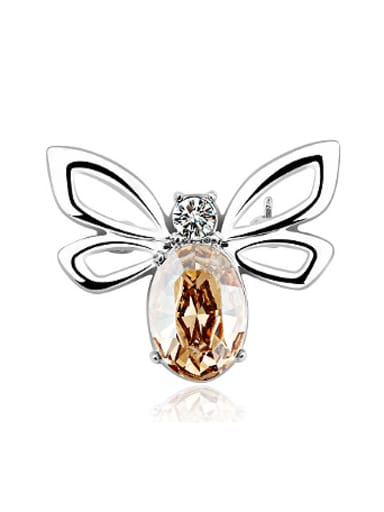 Fashion Austria Crystal Butterfly Brooch