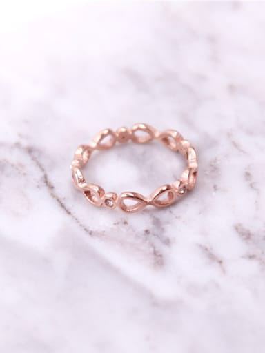 Simple Hollow Bow Fashion Ring