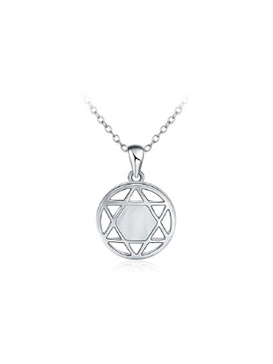 Trendy Platinum Plated Star Shaped Necklace