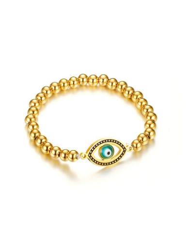 Personality Gold Plated Eye Shaped Titanium Bracelet