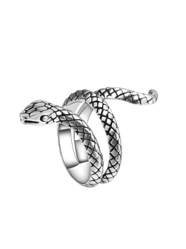Punk style Personalized Snake Alloy Ring