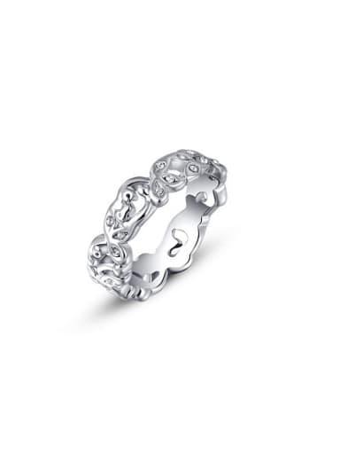 Exquisite Flower Vine Shaped Austria Crystal Ring