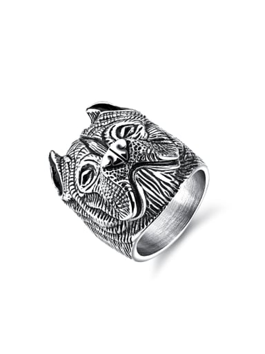 Punk style Personalized Dog Titanium Ring