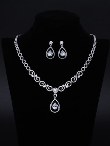 Luxury Two Pieces Jewelry Fashion Wedding Accessories Suit