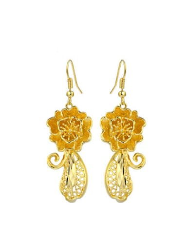 Ethnic style Flowery Wedding Earrings