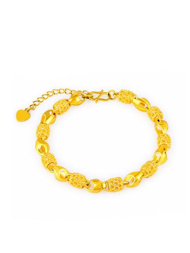 Adjustable 24K Gold Plated Locket Shaped Bracelet