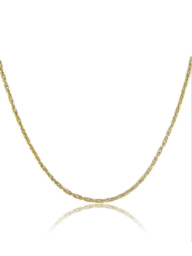 Elegant 24K Gold Plated Geometric Shaped Copper Necklace