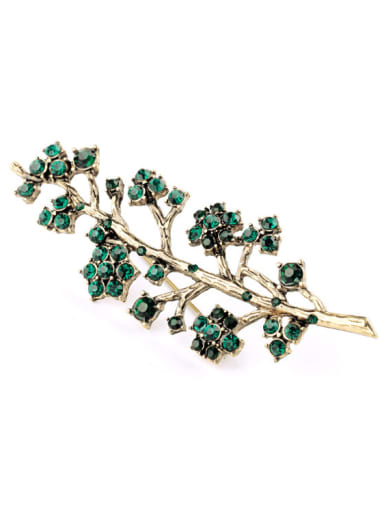 Lovely Rhinestones Branches Shaped Alloy Brooch