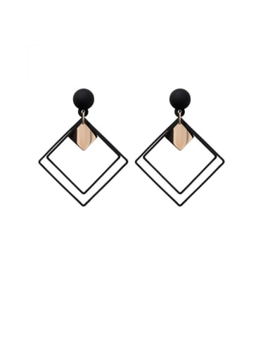 Alloy With Smooth  Simplistic Geometric Stud Earrings