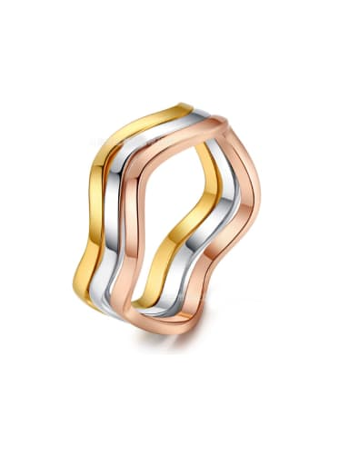 Three Colors Plated Smooth Hot Selling Ring