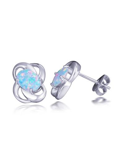Flower Opal Stone stud Earring