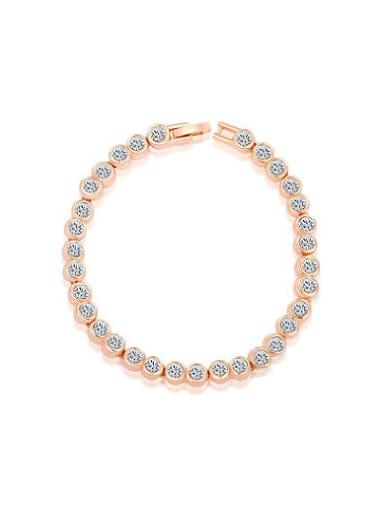 Elegant Round Shaped Austria Crystal Bracelet