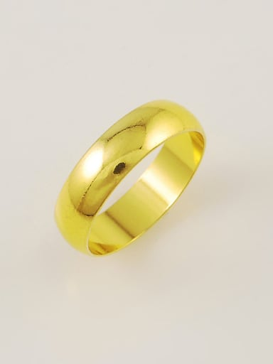 Unisex 24K Gold Plated Geometric Shaped Copper Ring