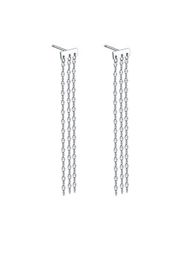 925 Sterling Silver  Trendy Long stream comb Drop Earrings