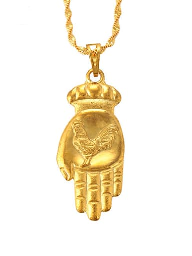 Personalized Gold Plated Palm Pendant