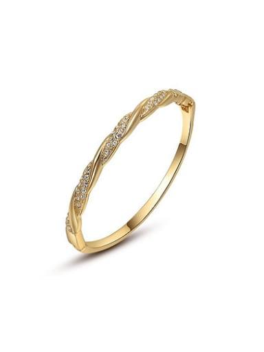Delicate Geometric Shaped 18K Gold Plated Bangle