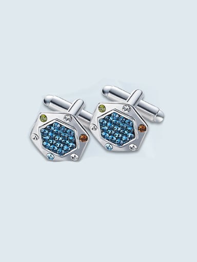 Artificial Rhinestone Cufflinks
