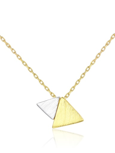925 Sterling Silver with  Glossy  Simplistic Triangle Necklaces