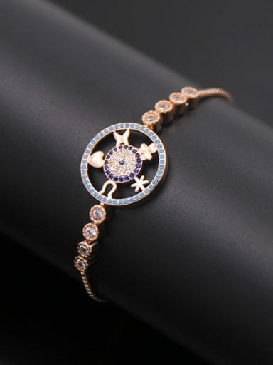 Hollow Round Copper Bracelet