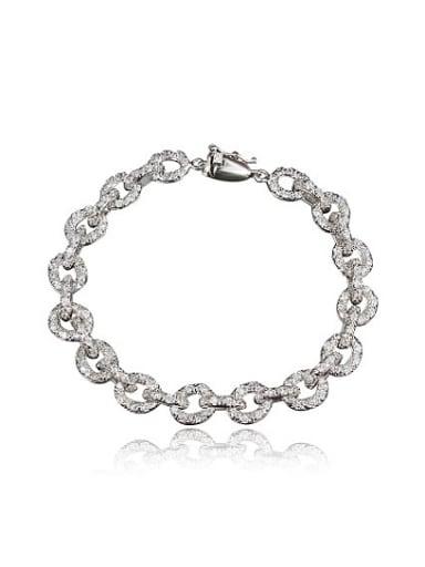 Women Exquisite Platinum Plated Zircon Bracelet