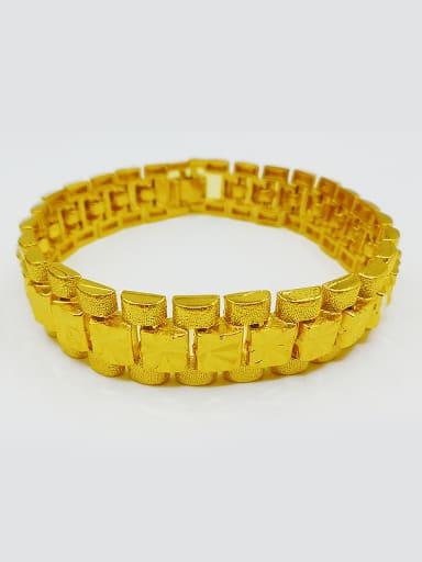 Men 24 Gold Plated Geometric Bracelet