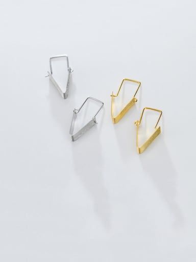 925 Sterling Silver With Smooth Simplistic Geometric Clip On Earrings