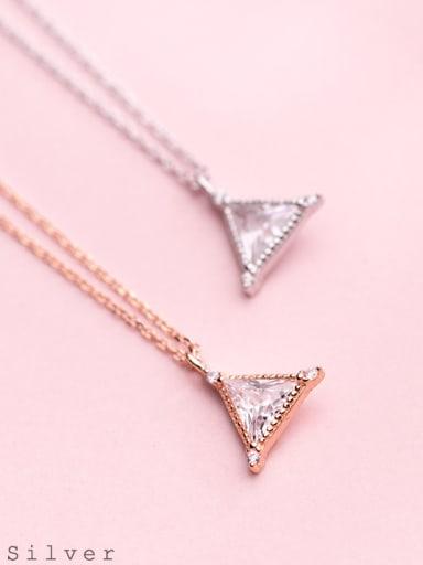 S925 Silver Necklace Pendant wind fashion Diamond Diamond Pendant temperament geometric collar chain D4323