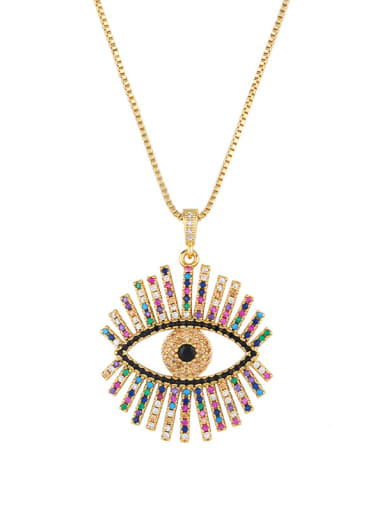 Copper With Cubic Zirconia Fashion Evil Eye Necklaces