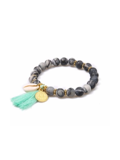 Natural Stones Shell Tassel Accessories Bracelet
